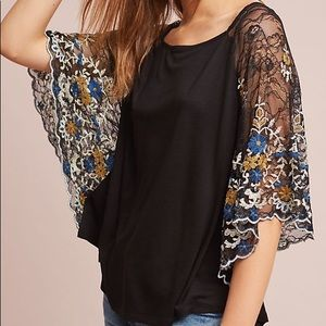 Anthropologie Akemi + Kin black Callista top
